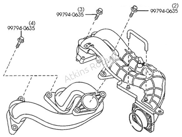 04-11 Rx8 Upper Intake Manifold Bolt (9979-40-635)
