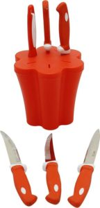 Capital soft budget knife set with stand