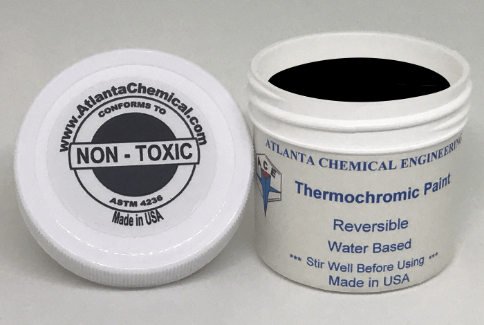 thermochromic paint black colorless