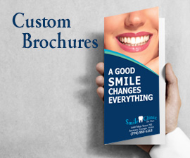 dentist brochure custom design marketing