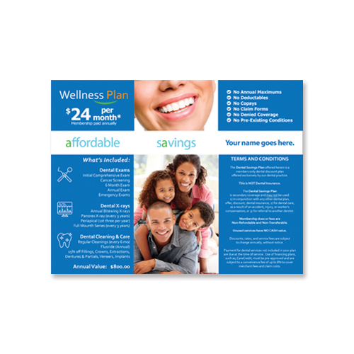 Custom Dental Savings Plan for Dental Practice