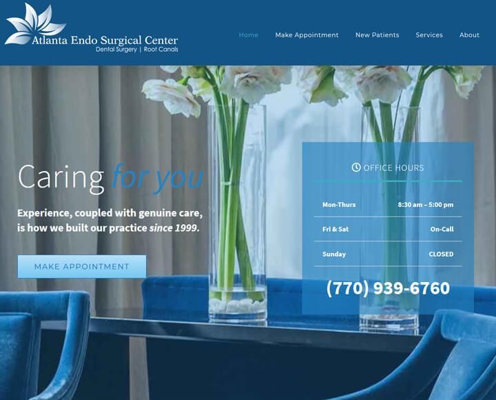 atlanta dental website design