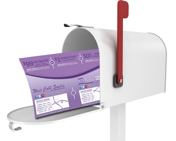 dentist marketing post office mailbox