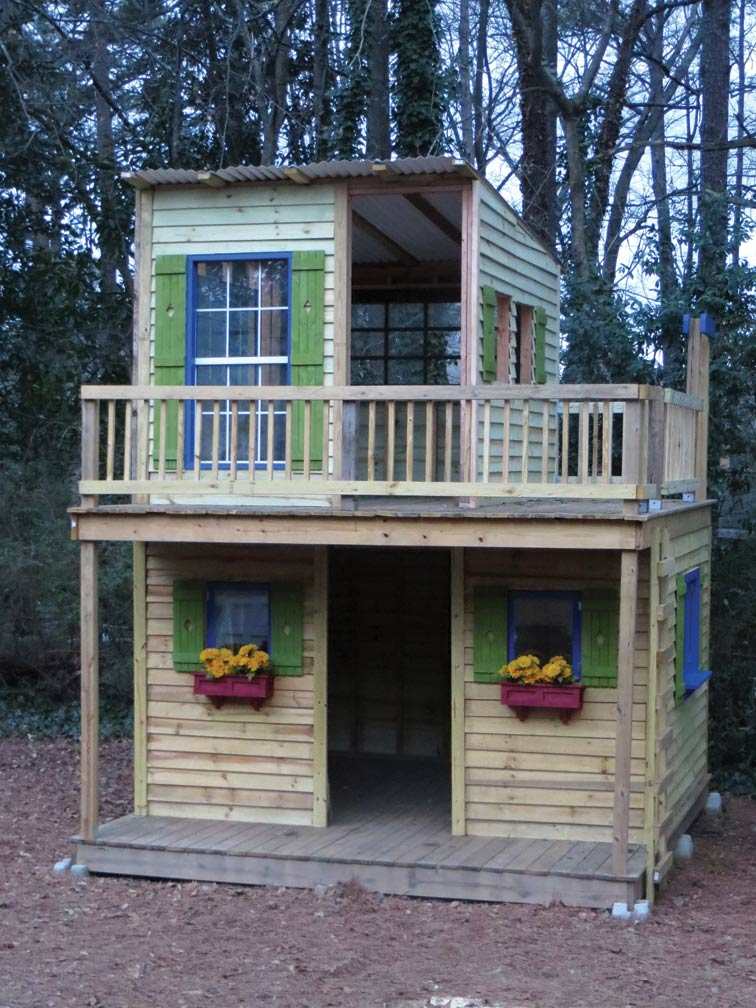 playhouse plans two story