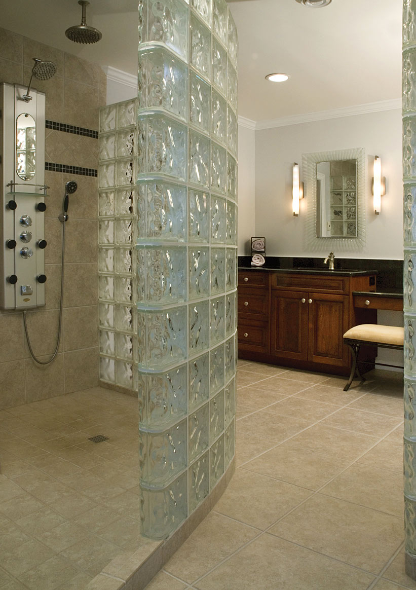 Bathroom Designs With Glass Block Showers