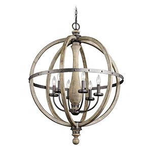 Kichler Evan five-light chandelier