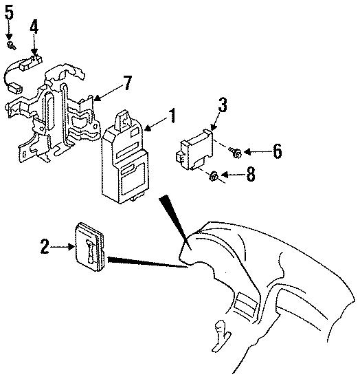 Mazda RX-7 Body Control Module. ELECTRICAL, Make, Trans