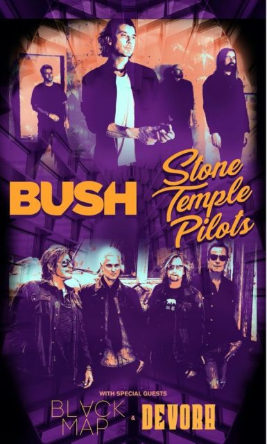 BUSH AND STONE TEMPLE PILOTS ANNOUNCE CO-HEADLINE TOUR BEGINNING SEPTEMBER 30 – STOP IN ATLANTA ON OCTOBER 8TH!