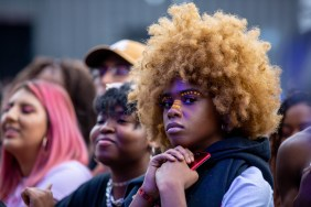 ATLANTA, GEORGIA - OCTOBER 12: Fans gather during day 1 of AFROPUNK Music Festival at Atlanta 787 WINDSOR on October 12, 2019 in Atlanta, Georgia. Photo: Ryan Fleisher/imageSPACE
