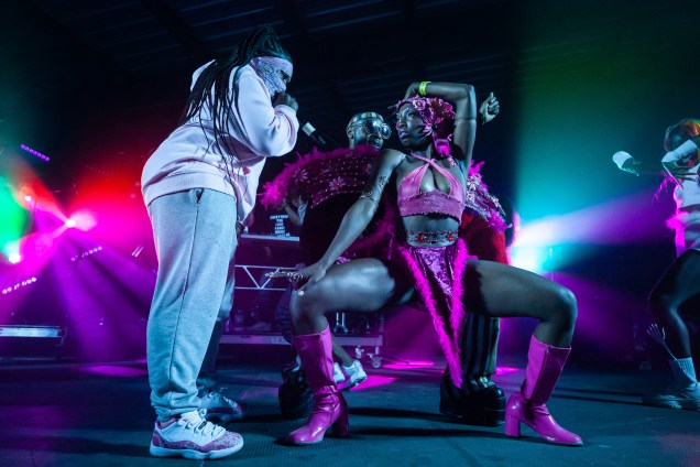 ATLANTA, GEORGIA - OCTOBER 12: Leikeli47 performs during day 1 of AFROPUNK Music Festival at Atlanta 787 WINDSOR on October 12, 2019 in Atlanta, Georgia. Photo: Ryan Fleisher/imageSPACE