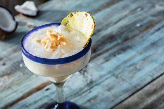 Pineapple coconut margarita at Bahama Breeze