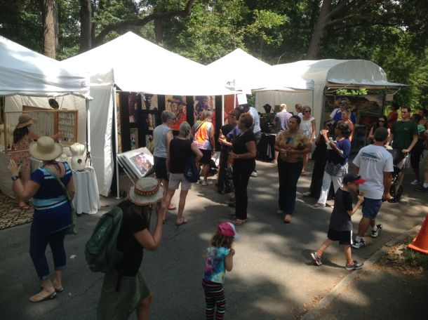 booths at the piedmont arts festival in atlanta