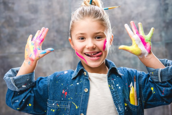 happy child art project