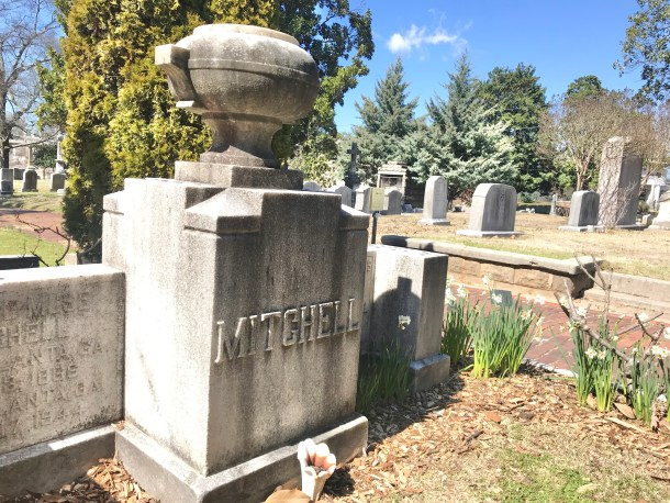grave of margaret mitchell at oakland cemetery in atlanta
