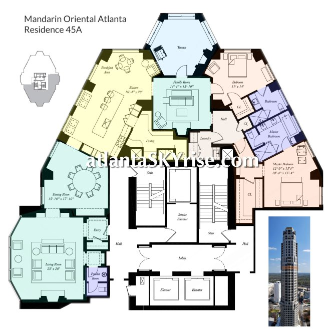 Mandarin Oriental Residences 45A Floor Plan 1