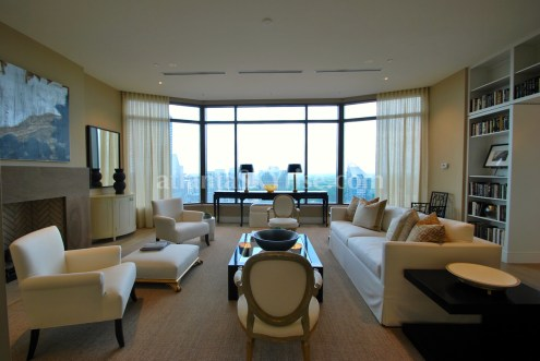 Mandarin Oriental Residences Atlanta 45A Living Rooom 3