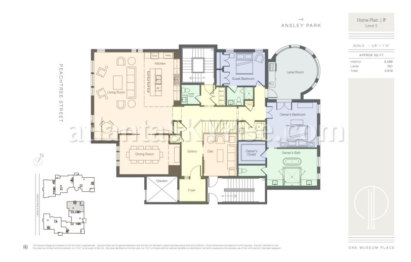 One Museum Place - Penthouse 5F Floor Plan