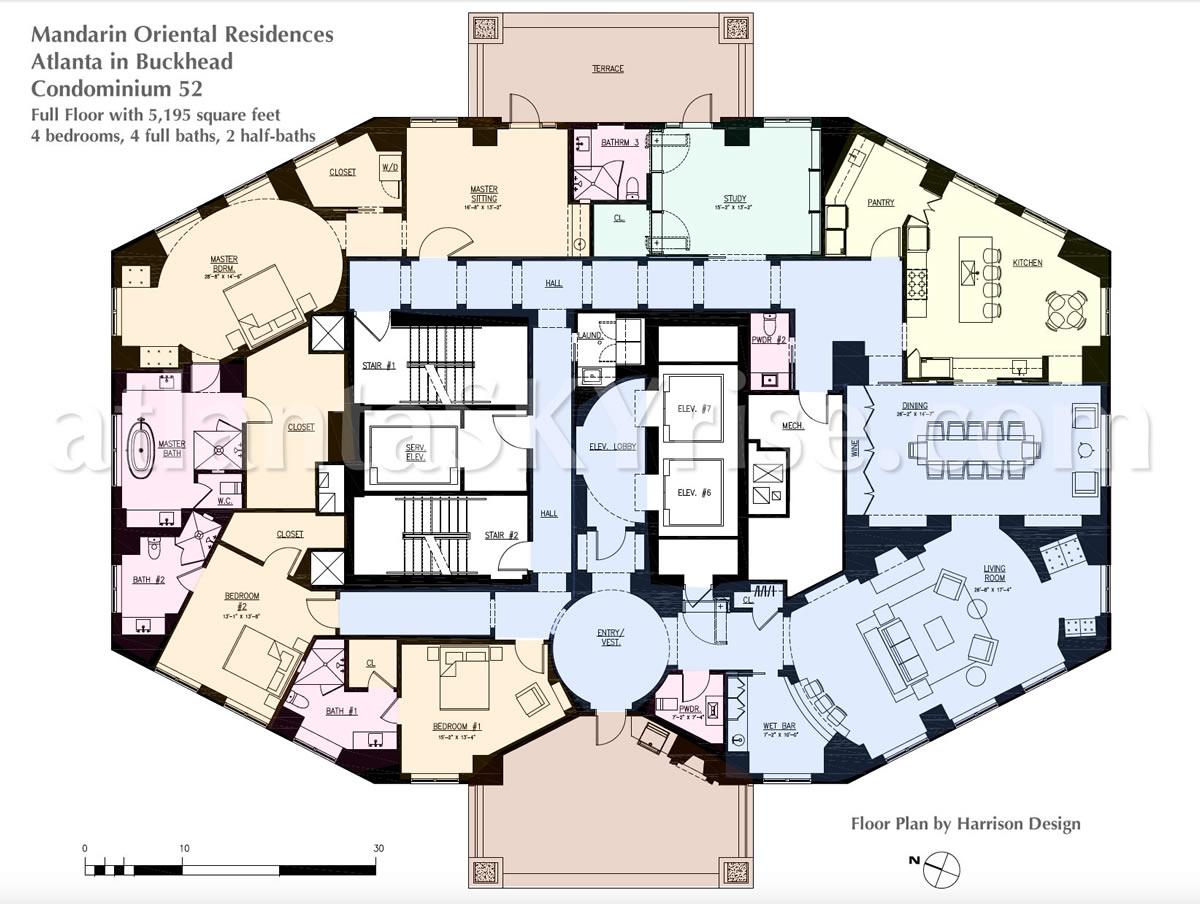 Mandarin oriental residences atlanta goes full throttle for X2 residency floor plan