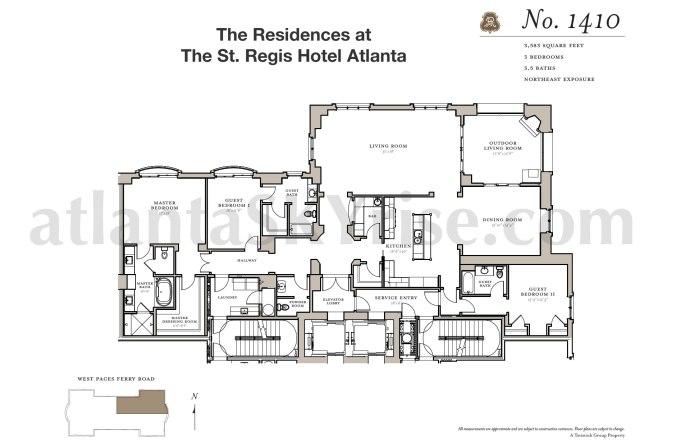 St Regis 1410 Floor Plan