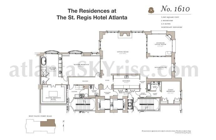 St Regis 1610 Floor Plan