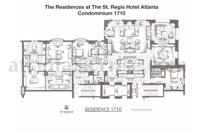 St Regis 1710 Floor Plan