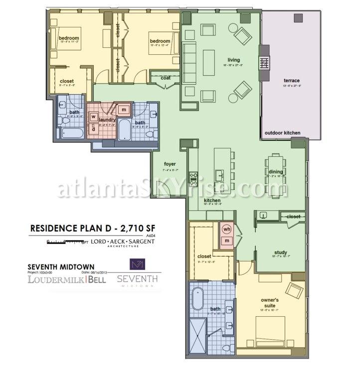 Seventh Midtown Unit 802 Floor Plan