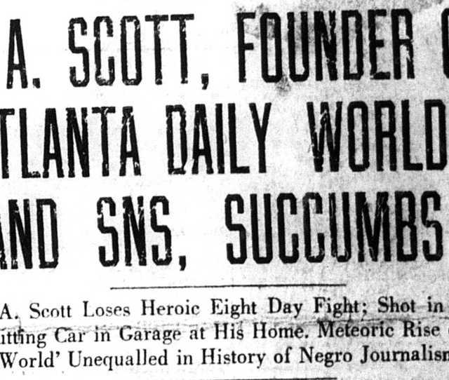 Atlanta Studies Atlanta The Scott Family And The Creation Of A