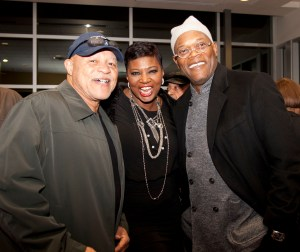 John Beasley, Deena Beasley, and Samuel L. Jackson attend Two Trains Running. Photo by The Horne Brothers