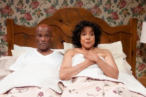 Kenny Leon and  Phylicia Rashad in Same Time Next Year. Photo by Josh Lamkin