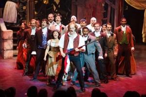 Cast of Les Misérables in Atlanta's Aurora Theatre's production.