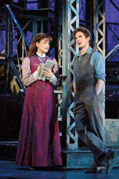 Stephanie Styles (Katherine) and Dan DeLuca (Jack Kelly).  Original North American Tour company of NEWSIES.  ©Disney.  Photo by Deen van Meer.