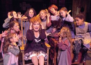 Sally Struthers performs as Miss Hannigan in Annie at Atlanta's Fox Theatre