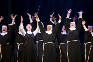 The cast of Sister Act. Photo by Joan Marcus