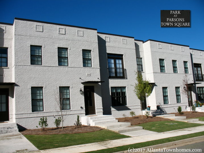 Park at Parsons Town Square townhomes in Duluth GA