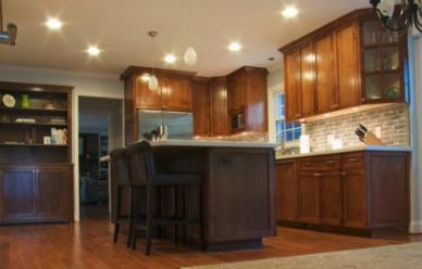 This kitchen was completely updated from floor to ceiling.