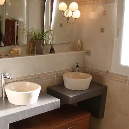 Meubles de salle de bain Bton cir  Atlantic Bain