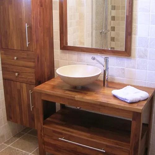 Meuble salle de bain plan en bois  Atlantic Bain