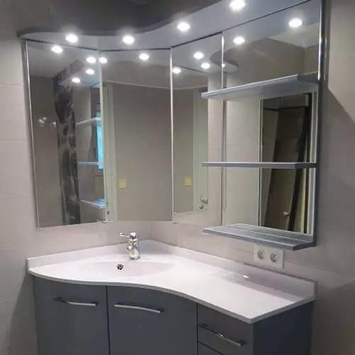 salle de bains d angle meuble design
