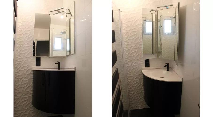 petit meuble d angle suspendu 60 x 60 cm