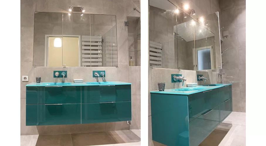lana meuble de salle de bains en verre