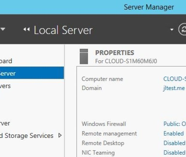 Note The Remote Desktop Status In The Right Pane Local Server