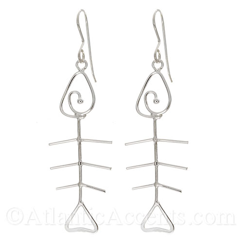 Fishbone Necklace and Fish Skeleton Earrings