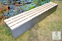 Modern Garden Bench | Stainless steel contemporary seating ...