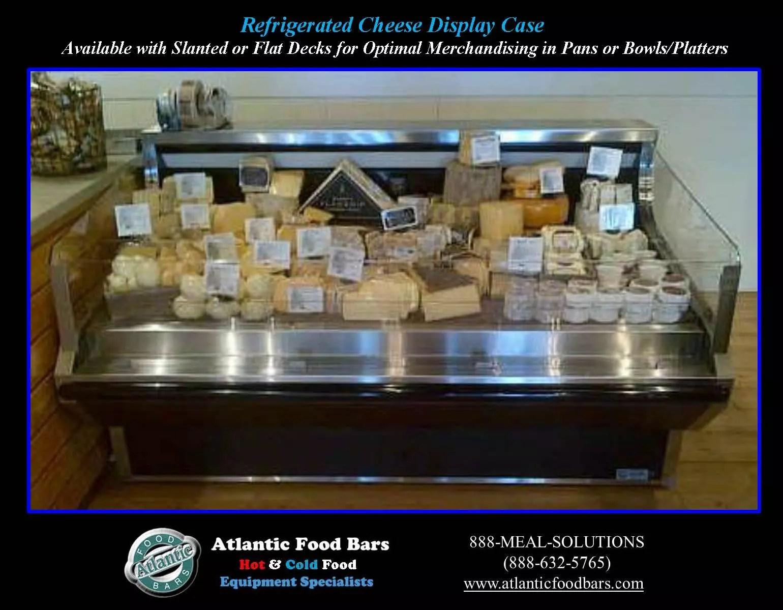 Atlantic Food Bars Custom Refrigerated Cheese Display