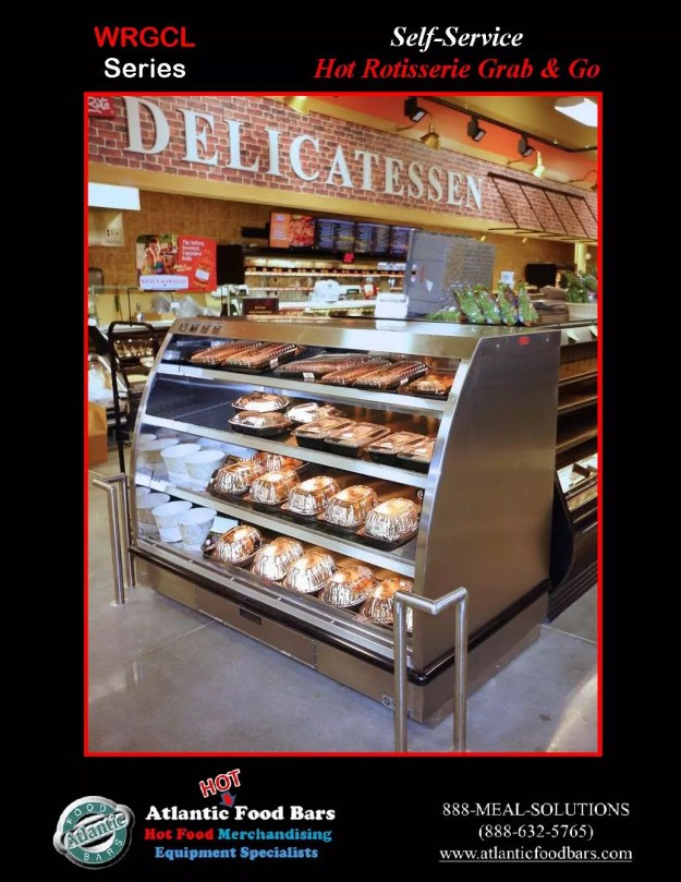 Atlantic Food Bars - Back-to-Back Self-Service Hot Wing Bar and Rotisserie Chicken Case - HFB6036F & WRGCL6037 3