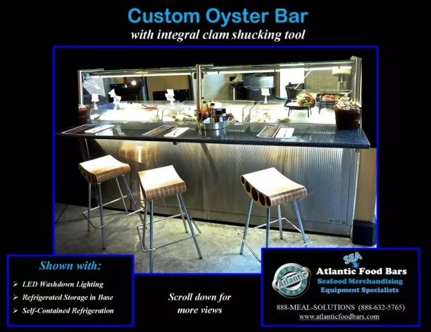 Atlantic Food Bars - Custom 8' Oyster Shucking Case 1