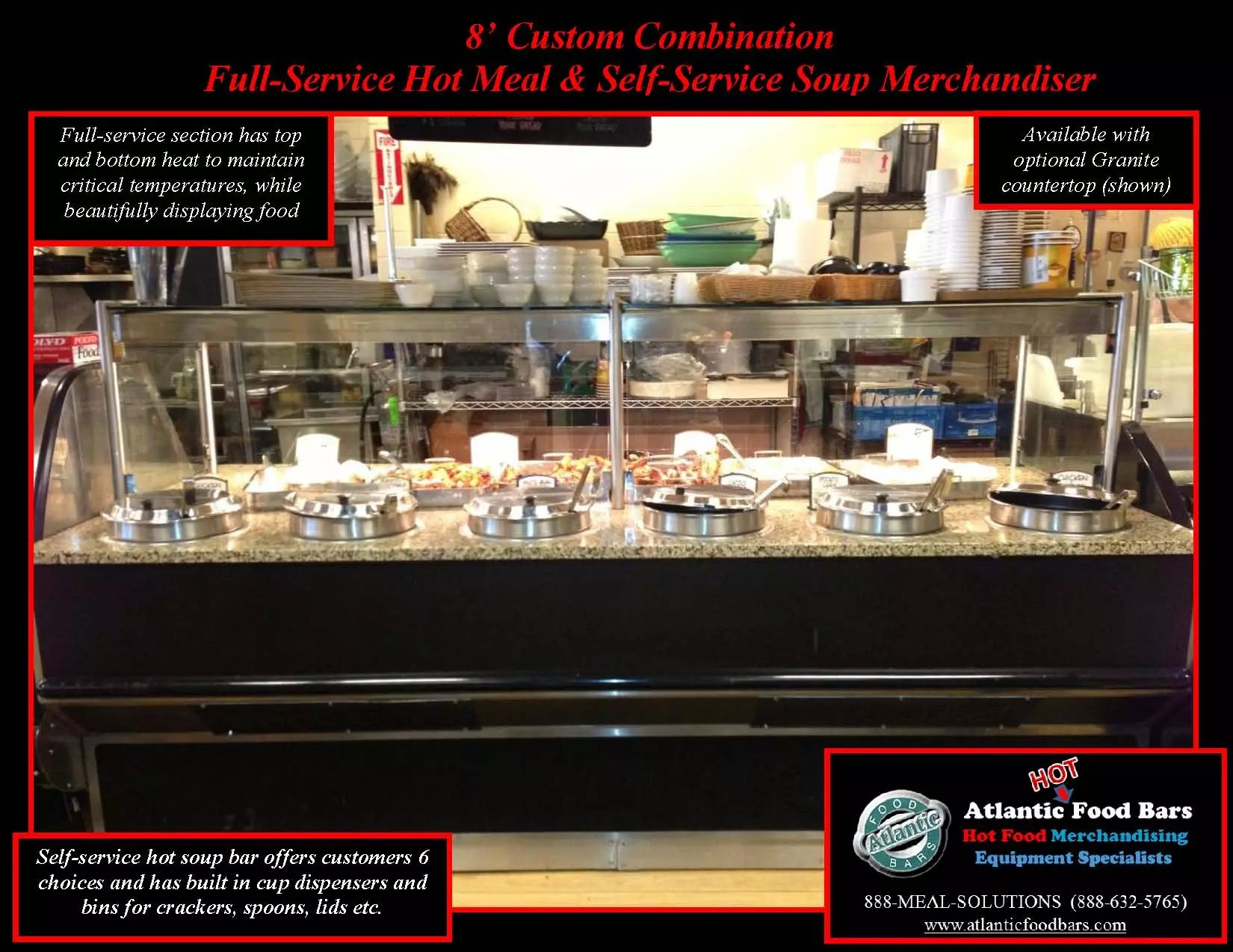 Atlantic food bars custom soup hot meal merchandiser for Food bar 8 0