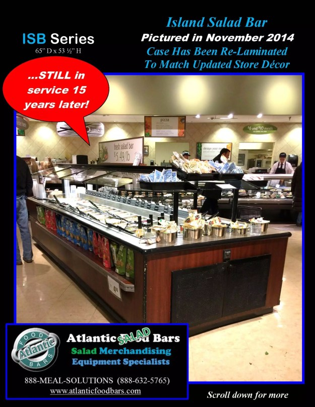 Atlantic Food Bars - The 15 Year Club - ISB14863 Refrigerated Island Salad Bar - STILL IN SERVICE! 2