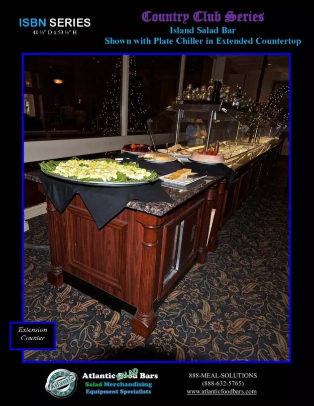 Atlantic Food Bars - Country Club Series Narrow Salad Bar with Plate Chiller - ISBN11837 3