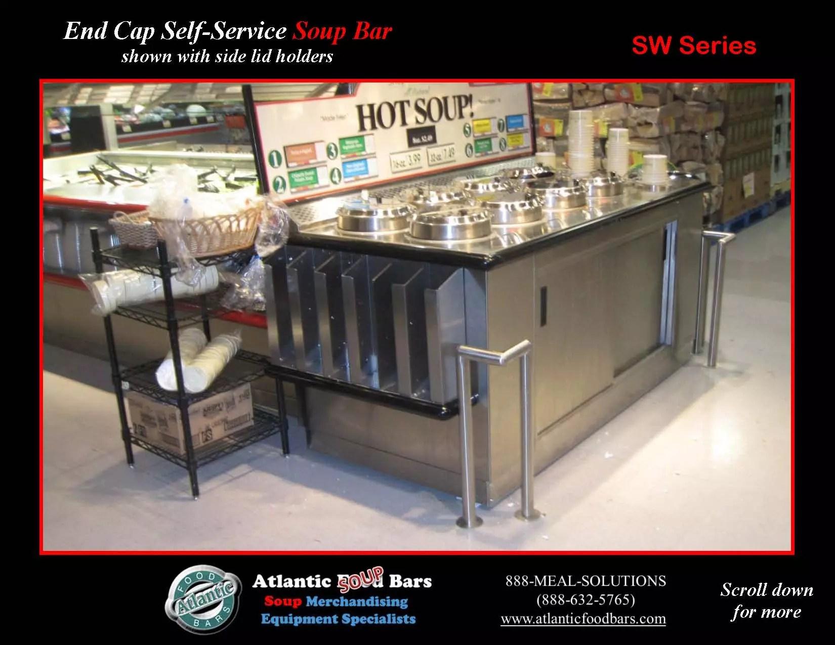 Atlantic food bars end cap soup bar with side lid for Food bar 2015